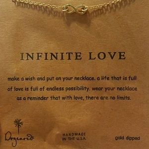 """Infinite Love"" Golden Infinity Symbol Necklace"